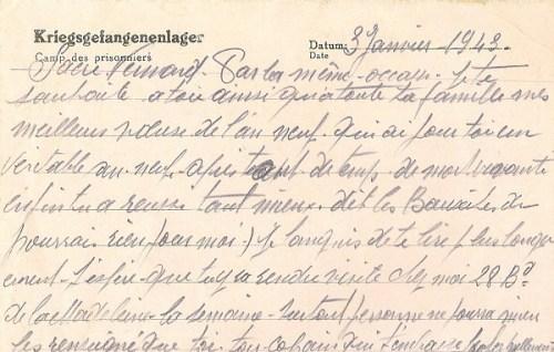 03 01 1943 carte prisonnier verso