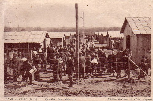 13 08 1939 camp de Gurs camp des miliciens