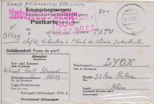 30 01 1942 oflag XVII A recto