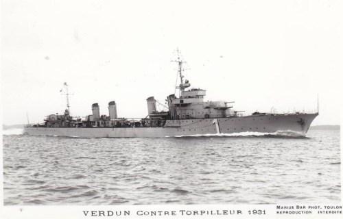 contre torpilleur Verdun