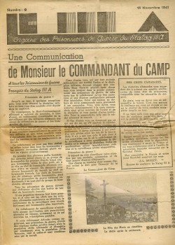journal du camp n°2 Stalag IIIA 15 11 1941