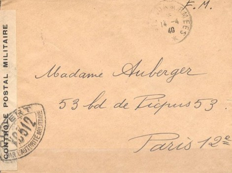 controle postal XC 312