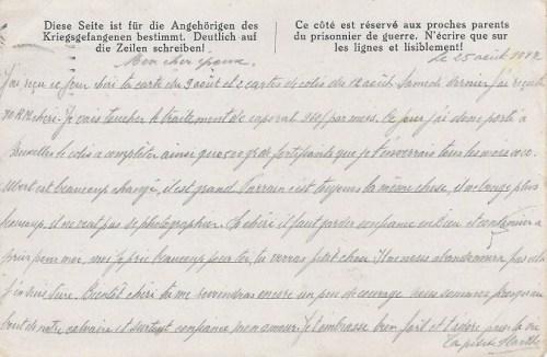 26 08 1942 stalag VIII A verso