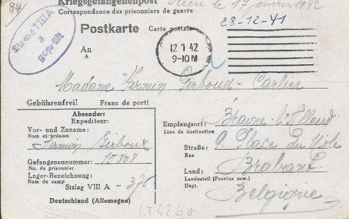 12 01 1942 stalag VIII A