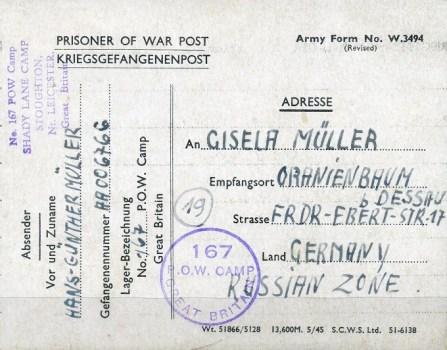 prisonniers de guerre allemands en GB camp n° 167