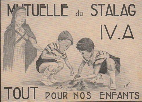carte illustrée du stalag IV A