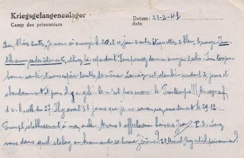 08 03 1941 stalag IV A verso