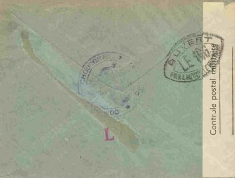 controle postal LE 186 verso