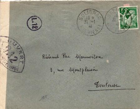 contrôle postal OA 2