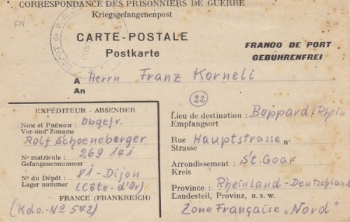 prisonniers de guerre allemands en France camp n°81