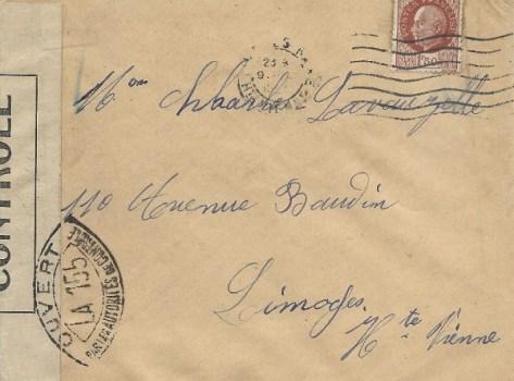 controle postal LA 155