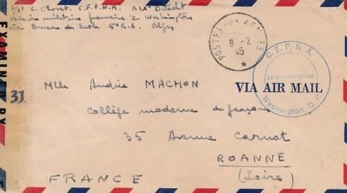 1945 CFPNA mission militaire française aux USA