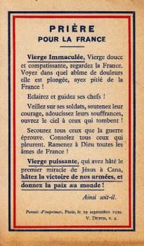 priere pour la paix 29 09 1939
