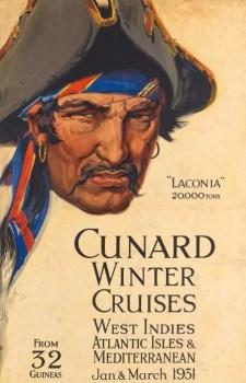 depliant voyage 1931 du laconia