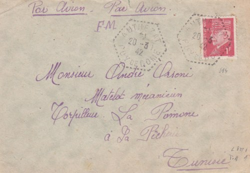 torpilleur La Pomone 20 03 1942