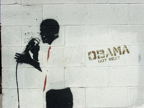 Obama Stencil. By Christopher V. Smith. Source http://www.flickr.com/photos/christophervsmith/3382123801/in/pool-obamastreetart