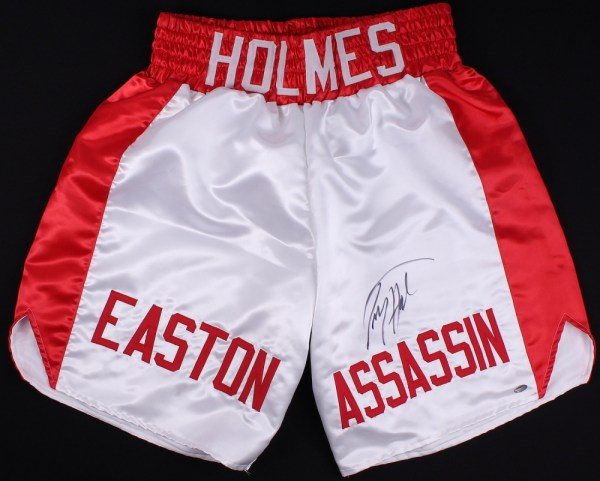 "Larry Holmes Signed Custom ""Easton Assassin"" Boxing Trunks ..."