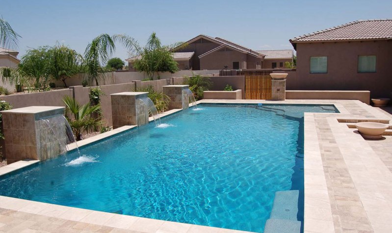 Well-maintained swimming pool in Goodyear.