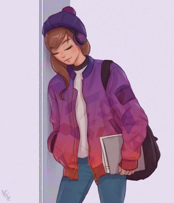 Красивые девушки для срисовки - картинки, рисунки, простые ...