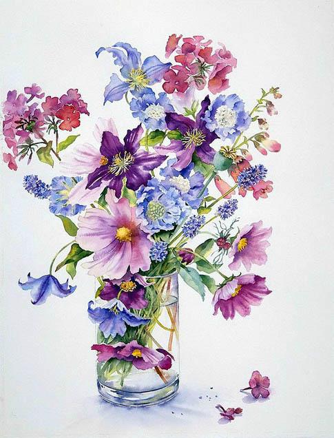 Красивые нарисованные картинки цветов - удивительные и ...