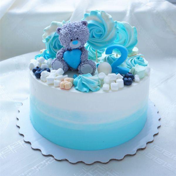 Торт на день рождения для подруги из мастики - фото