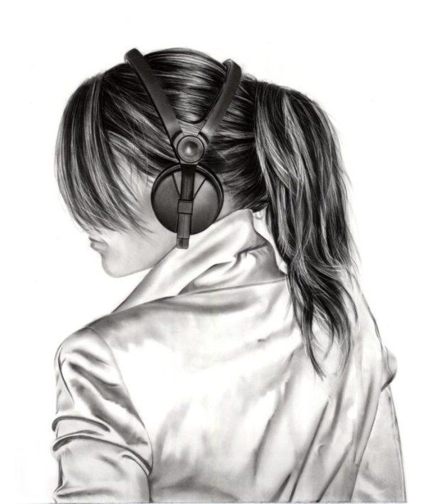 Нарисованные фото для девочек на аву в ВК