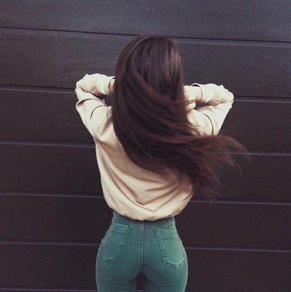 Красивые фото на аву для девушек брюнеток без лица