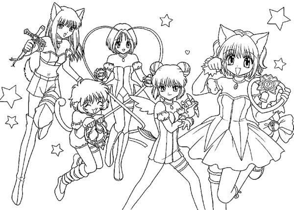 Пара аниме раскраска для детей