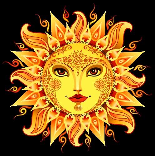 Солнце и луна рисунок