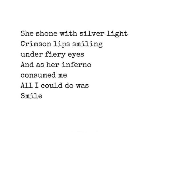 Crimson Lips & Silver Light