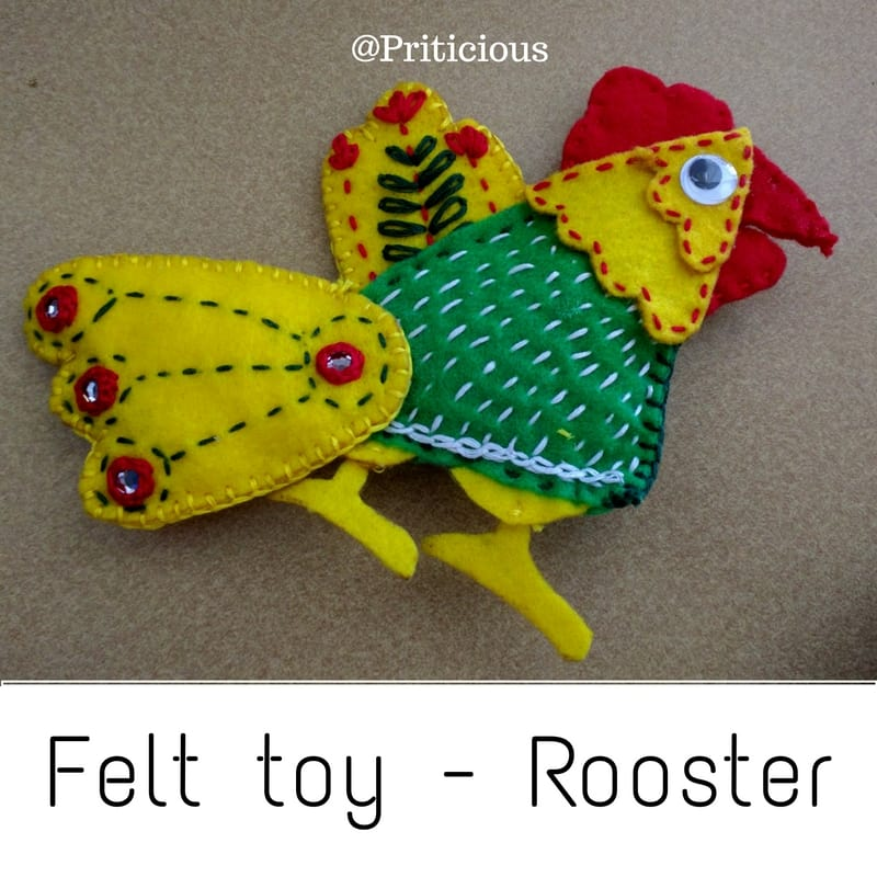 Felt Toy For Toddlers - Rooster