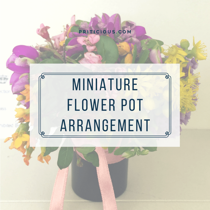 Miniature Flowering Pot Decoration