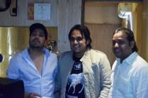 Mika_Singh_Pritish_Chakraborty_Rashid_Khan_At_Studio_Andheri3