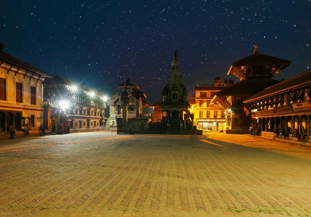 Bhaktapur Durbar Square at Night