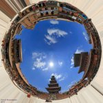 360 degree circular panorama of Taumadi square Bhaktapur