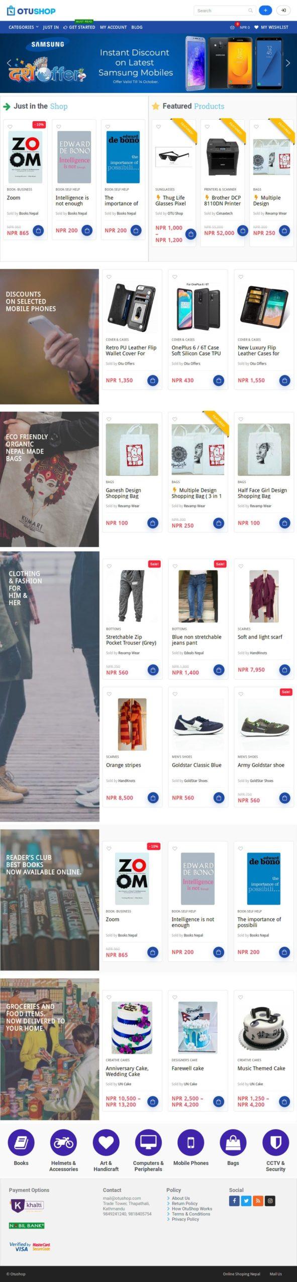 OtuShop.com - eCommerce website