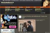Screenshot of Monica Bellucci's website