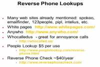 Online tools for reverse phone lookups