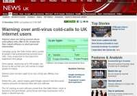News report on anti-virus cold-calling scam