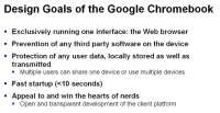 Design peculiarities and goals of the Chromebook