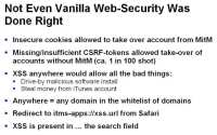 Non-customized vanilla for iOS appliance has security flaws as well