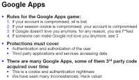 Security-related facts about Google Apps