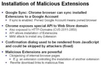 Malicious extensions: easy to get and really dangerous