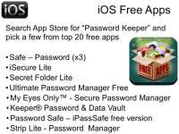 Free Password Managers for iOS