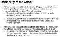 Advantages for the attacker