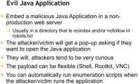 How the evil Java applet works