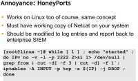 HoneyPorts, Linux-wise