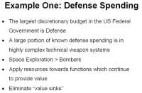 How expedient is the US defense spending?