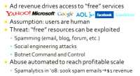 Commercial implication behind abusing free resources
