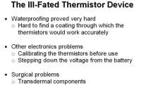 Problems with thermistors